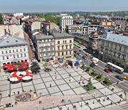 Zamek Sułkowskich - panorama miasta z baszty