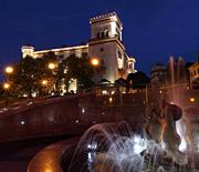 Plac Chrobrego nocą