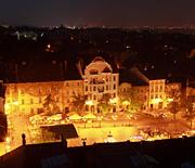 Panorama Bielska-Białej z wieży Katedry Św. Mikołaja