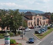 Widok z kładki nad ul. Warszawską