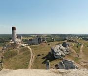 Panorama Zamku Olsztyn z wieży