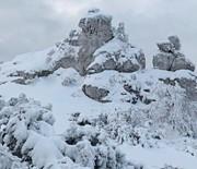 Góra Zborów zimą