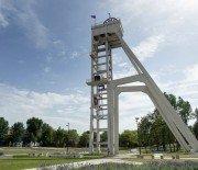 Wieża szybu Prezydent w Chorzowie