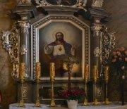 Ołtarz z obrazem Serce Pana Jezusa