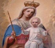 Ołtarz z wizerunkiem Matki Boskiej z Dzieciątkiem