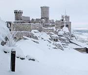 Zamek Ogrodzieniec zimą