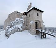 Zamek Bobolice zimą
