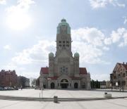 Ruda Śląska - Plac Jana Pawła II z kościołem św. Pawła