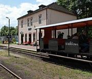 Przyjazd pociągu turystycznego