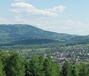 Panorama z Góry Chełm w Goleszowie