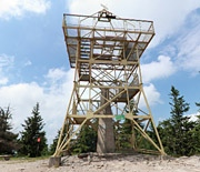 Wieża widokowa na szczycie