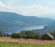 Panorama Jeziora Żywieckiego z Żarnówki Dużej